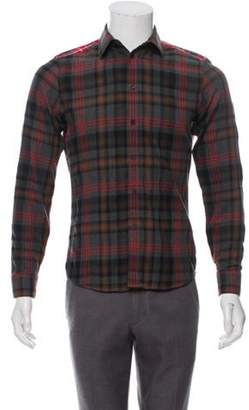 Givenchy Contrast Plaid Shirt grey Contrast Plaid Shirt
