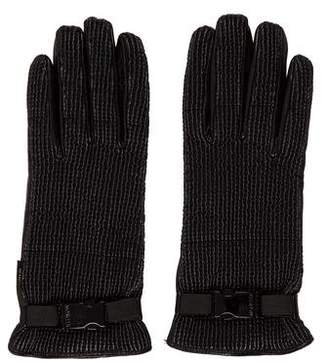Moncler Textured Leather Gloves