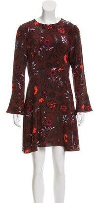 Sandro Silk Floral Printed Dress $85 thestylecure.com