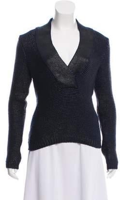 Tom Ford Metallic V-Neck Sweater