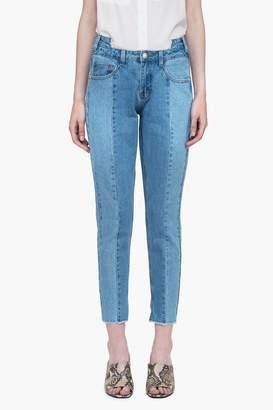 Genuine People High Waist Crop Panel Jeans