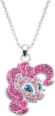 My Little Pony FINE JEWELRY Womens Pink Crystal Brass Pendant Necklace