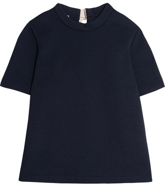 Marni - Buckled Textured-neoprene Top - Navy $590 thestylecure.com