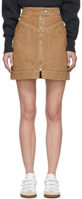 Etoile Isabel Marant Brown Denim Ioline Miniskirt