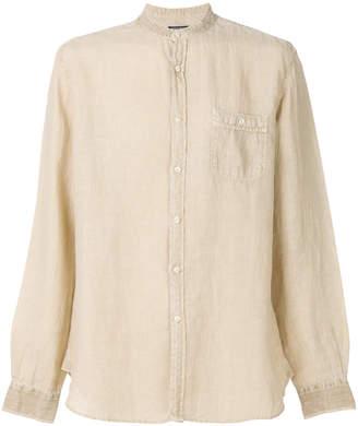 Woolrich loose fit collarless shirt