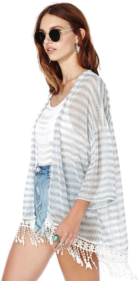 Nasty Gal Lines in the Sand Cardigan