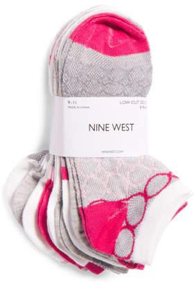 9pk Mesh Color Block Low Cut Socks