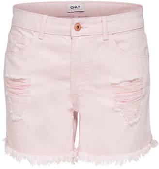 Only Destroy Denim Shorts