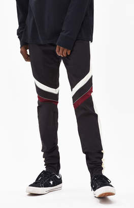 PacSun Drop Skinny Motocross Black & Maroon Pants