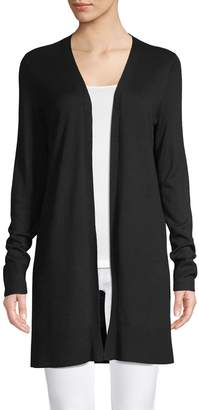 Lord & Taylor Open-Front Long Sleeve Cardigan