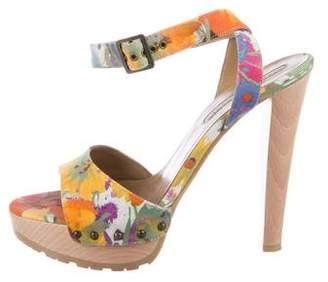 Stella McCartney Floral Platform Sandals