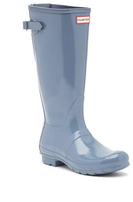 Hunter Adjustable Back Gloss Waterproof Rain Boot