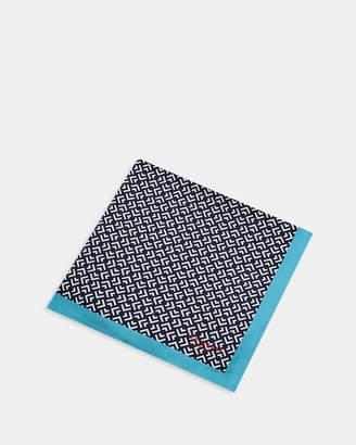 Ted Baker TAPE Geo print silk pocket square