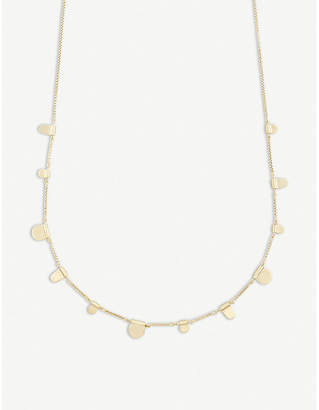 Kendra Scott Olive tab 14ct gold-plated necklace