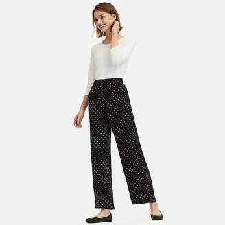 Uniqlo Women's Drape Straight Dot-print Pants
