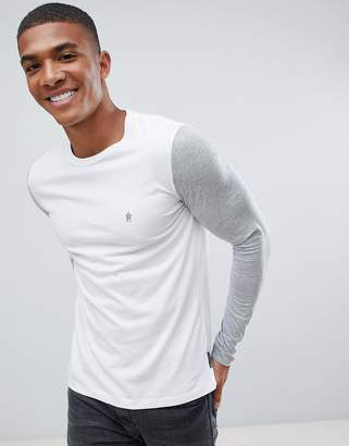 French Connection Contrast Sleeve Long Sleeve Top