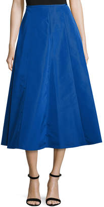 Michael Kors Shirred-Back Flare Midi Skirt, Cobalt