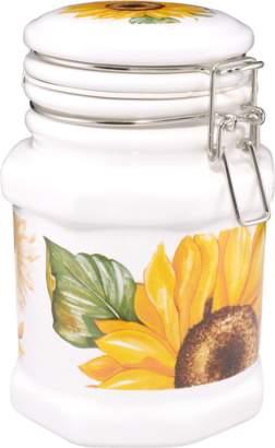Spigarelli Sunflower Airtight Seal Ceramic Canister