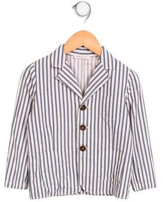Babe & Tess Girls' Striped Notch-Lapel Jacket