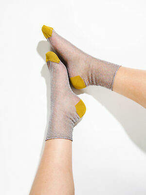 Hysteria By Happy Socks New Womens Emma Ankle Socks In Silver Socks