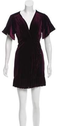 MISA Los Angeles Velvet Wrap Dress w/ Tags