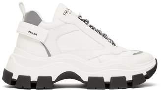 Pegasus Leather Trainers - Mens - White Black