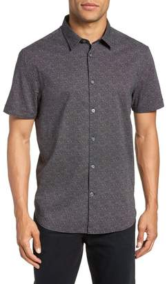 John Varvatos Regular Fit Dot Print Sport Shirt