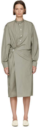 Lemaire Beige High Collar Twisted Dress