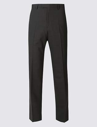 Marks and Spencer Big & Tall Charcoal Regular Fit Trousers