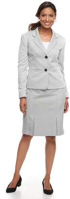Le Suit Women's Herringbone Jacket & Skirt Suit