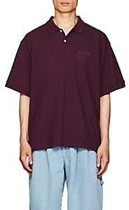 Gosha Rubchinskiy Men's Embroidered Cotton Piqué Polo Shirt - Wine