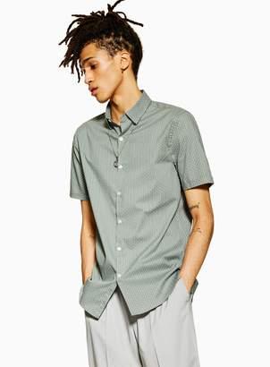 TopmanTopman Sage Geometric Stretch Skinny Shirt