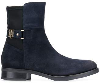 Tommy Hilfiger monogram ankle boots