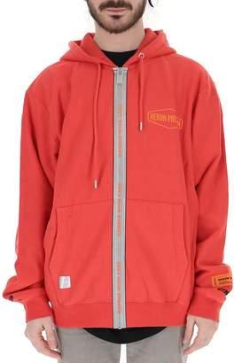 Heron Preston Monorgram Embellished Hooded Jacket