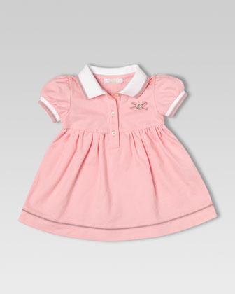 Gucci Stretch Pique Polo Dress, Medium Pink