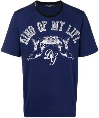 Dolce & Gabbana King of My Life print T-shirt