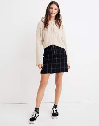 Madewell Plaid Fireside Mini Skirt