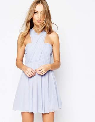 Asos DESIGN Bridesmaid multiway mesh mini dress