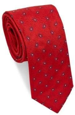 Brioni Mini Paisley Dot Repeat Silk Tie