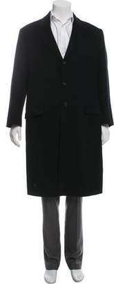 Prada Deconstructed Wool & Angora Overcoat