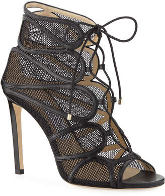cb93f760f016 Jimmy Choo Malena Open-Toe Lace-Up Sandal Booties