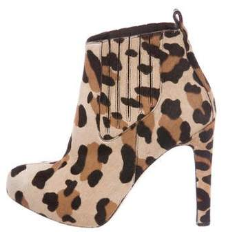 Brian Atwood Pony Hair Ankle Boots