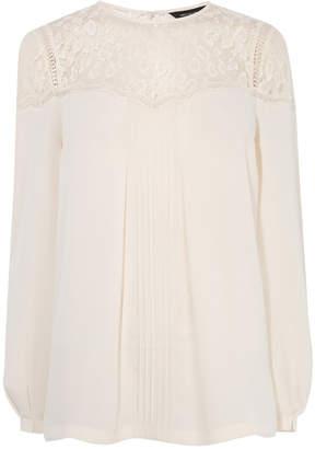 Karen Millen Lace Pleated Blouse