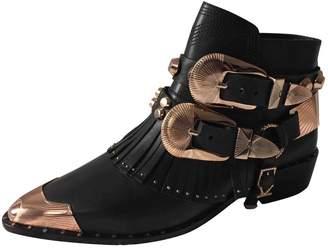 Ivy Kirzhner Black Leather Ankle boots