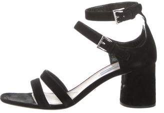 Prada Mid-Heel Strap Sandals