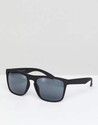 Jack and Jones Square Sunglasses In Black