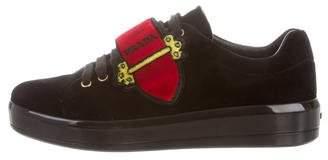 Prada Velvet 2018 Grip-Strap Sneakers