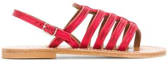 K. Jacques open toe cage sandals