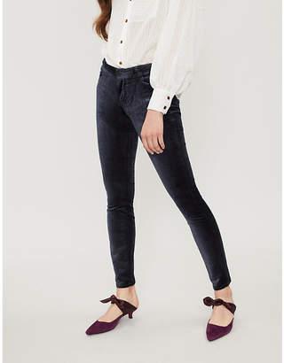 Paige Verdugo high-rise skinny velvet trousers