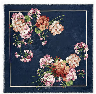 Blooms jacquard silk scarf $500 thestylecure.com